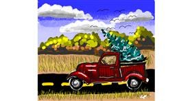 Drawing of Truck by Leah