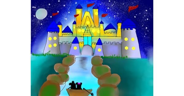 Castle drawing by Mitzi