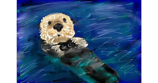 Otter drawing by Soaring Sunshine