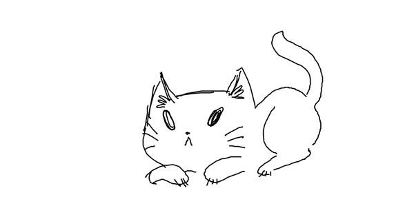 Cat drawing by GRANDMA