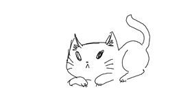 Cat drawing by GRANDMA