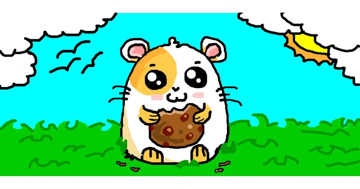 Drawing of Hamster by jp2