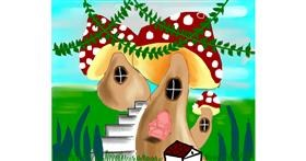 Drawing of Mushroom by Mitzi