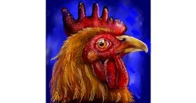Drawing of Rooster by Leah