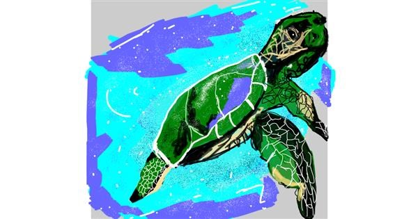 Sea turtle drawing by Leo🐾