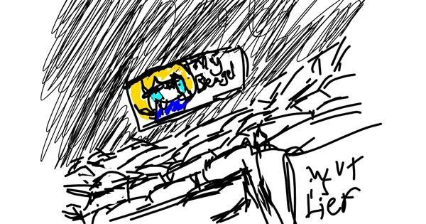 Cinema drawing by Pixxwr