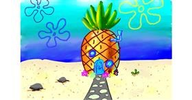 Pineapple drawing by Lola