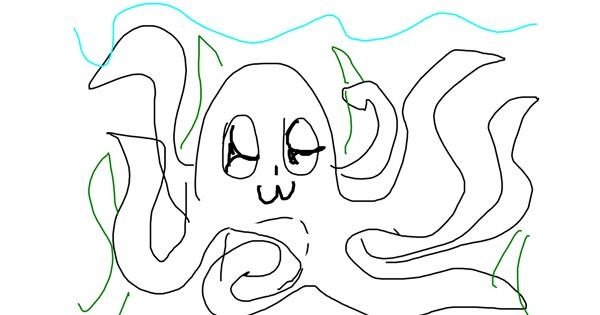 Octopus drawing by Claudia