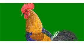 Drawing of Rooster by POOPERDOOPER