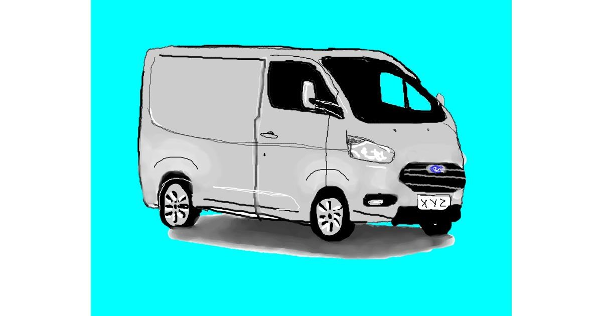 Van drawing by green
