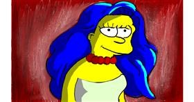 Drawing of Marge Simpson by Soaring Sunshine