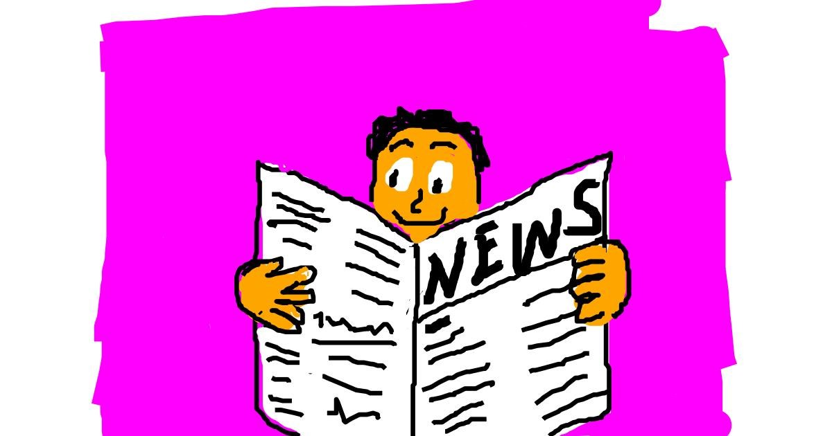 Newspaper drawing by Anonymous