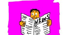 Drawing of Newspaper by Anonymous