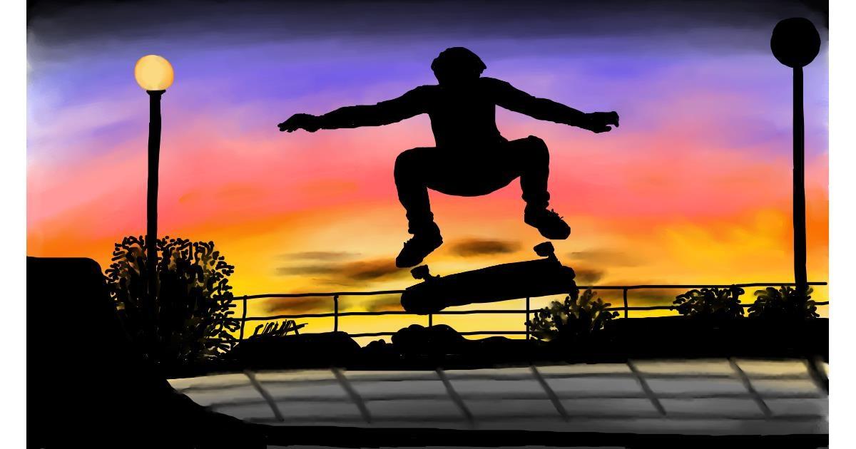 Skateboard drawing by RadiouChka