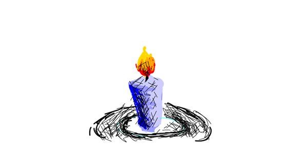 Candle drawing by meru