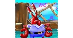 Mr. Krabs (spongebob) drawing by Leah