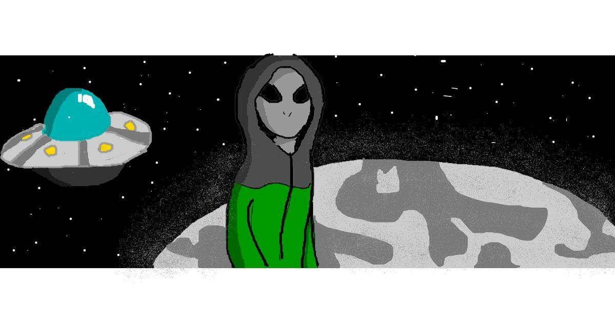 Alien drawing by Jackie