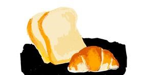 Bread drawing by Lsk
