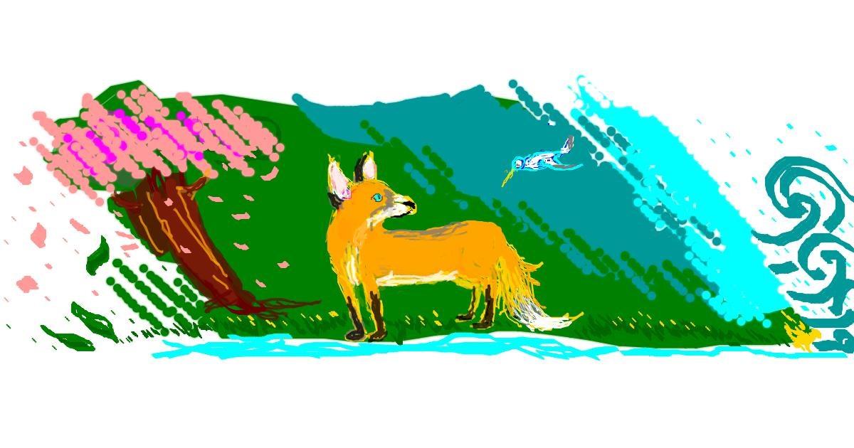 Fox drawing by 7y3e1l1l0o§