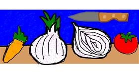Onion drawing by Mary