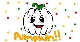 Pumpkin drawing by Pyatak