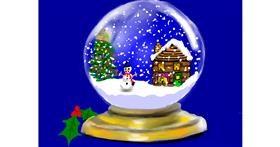 Drawing of Snow globe by SAM AKA MARGARET 🙄