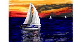 Sailboat drawing by Soaring Sunshine