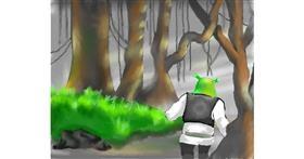 Shrek drawing by Cec