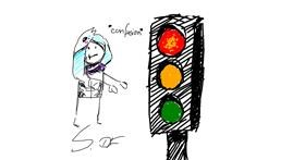 Traffic light drawing by Silver_DF