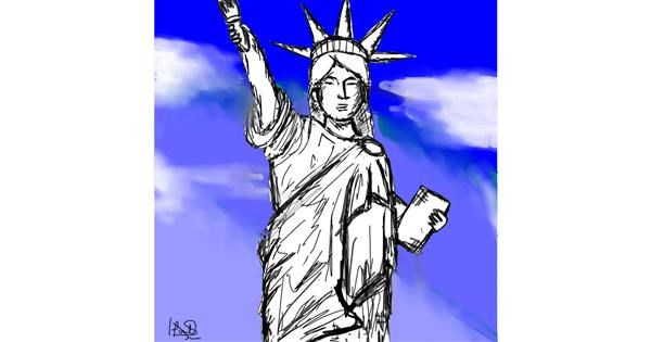 Statue of Liberty drawing by Luna lovegood