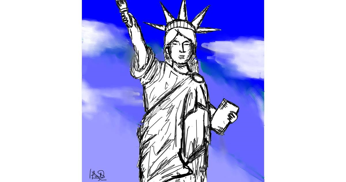 Statue of Liberty drawing by (luna lovegood)