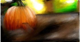 Drawing of Pumpkin by Soaring Sunshine