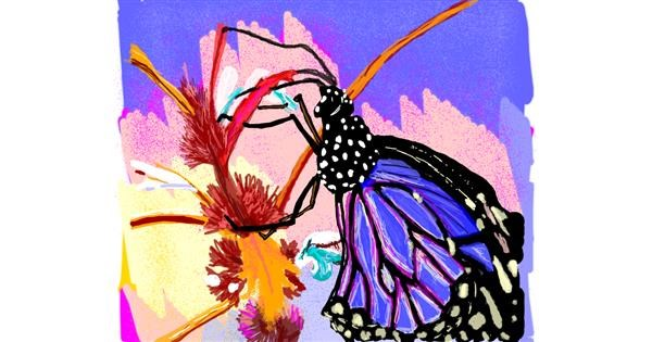 Butterfly drawing by Geo-Pebbles
