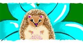 Hedgehog drawing by b