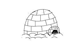 Igloo drawing by Kaila
