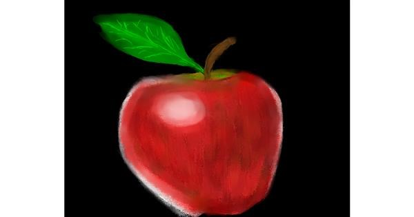 Apple drawing by Malone