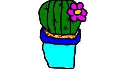 Cactus drawing by Marija