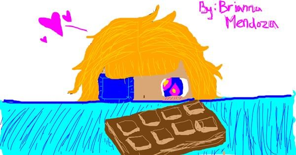 Chocolate drawing by Kat >:3