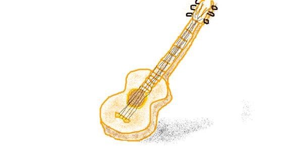 Guitar drawing by Steeeeve