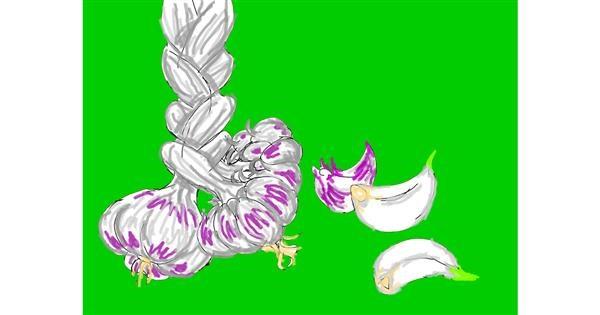 Garlic drawing by Lolo