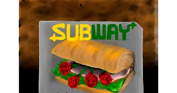 Sandwich drawing by 🌹🖌𝑅oses-𝕽-𝑅ed