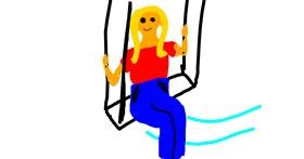 Drawing of Swing by Leen