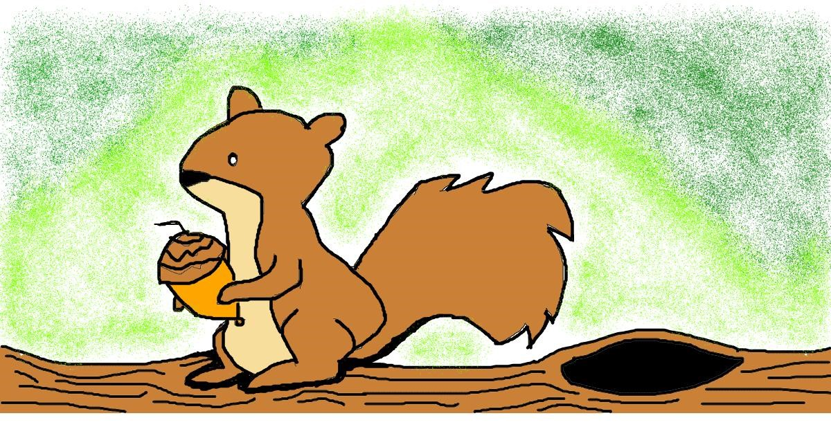 Squirrel drawing by Anonymous