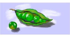 Drawing of Peas by Debidolittle