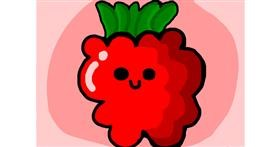 Raspberry drawing by Mackanilla