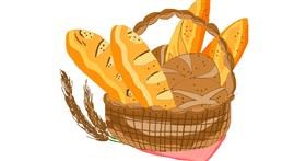 Bread drawing by Freny