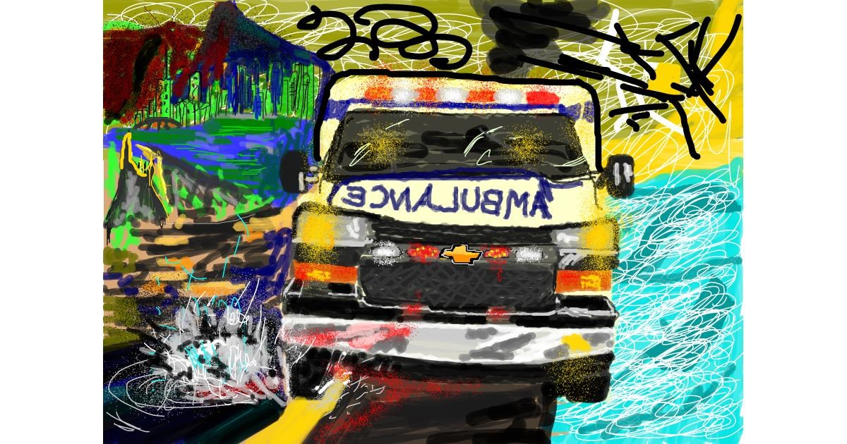 Ambulance drawing by 𝐓𝐎𝐏𝑅𝑂𝐴𝐶𝐻™