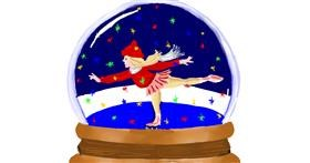 Drawing of Snow globe by Jac