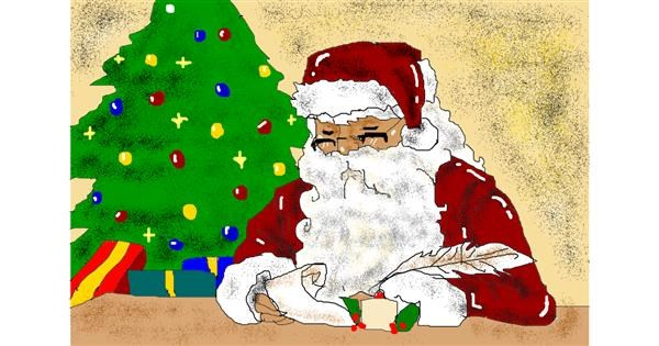 Santa Claus drawing by Jimmah
