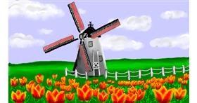 Windmill drawing by SAM AKA MARGARET 🙄